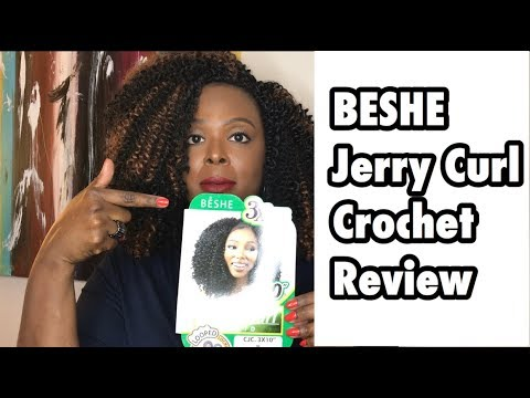 Beshe Jerry Curl Crochet Hair Review Youtube