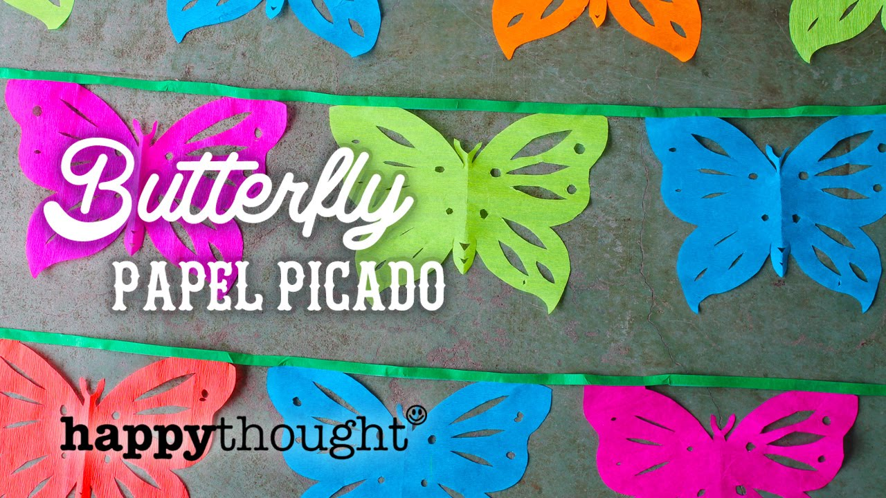 photograph regarding Papel Picado Template Printable identified as Butterfly papel picado decorations for a attractive fiesta, celebration or marriage ceremony!