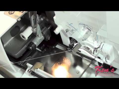How to thread the Brother 2340cv Coverstitch Machine