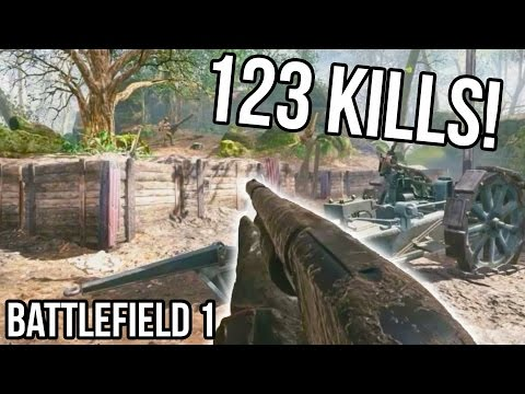 BATTLEFIELD 1 123 KILLS RECORD for Argonne Forest! [STREAM QUALITY] BF1 Shotgun Gameplay