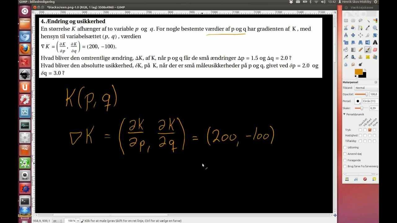 2011-01-21 Opgave 4. Ændring og usikkerhed