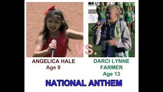 aNGELICA HALE AND DARCI LYNNE FARMER - NATIONAL ANTHEM HQ  -  NO PUPPETS