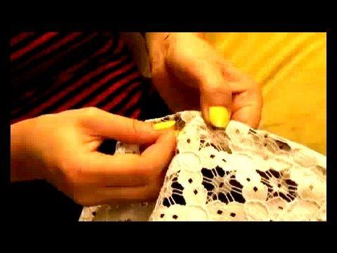 DIY Lace Lampshade, Threadbanger