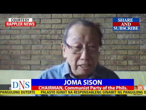 INTERVIEW of JOMA SISON on CPP's FULL SUPPORT to PRES. DUTERTE ADMINISTRATION