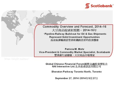 Commodity Overview and Forecast 2014-16 - Patricia Mohr, VP Scotia Bank