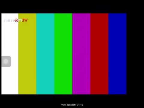 Arabic TV channel showing color bars (recorded via FilmOn TV).