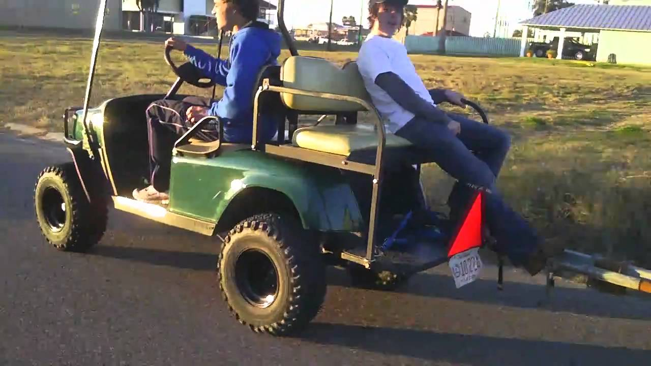 Golf Cart Pulling Boat Youtube