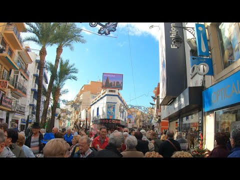 Benidorm Spain 🇪🇸 Walking The Streets/ Old Town City