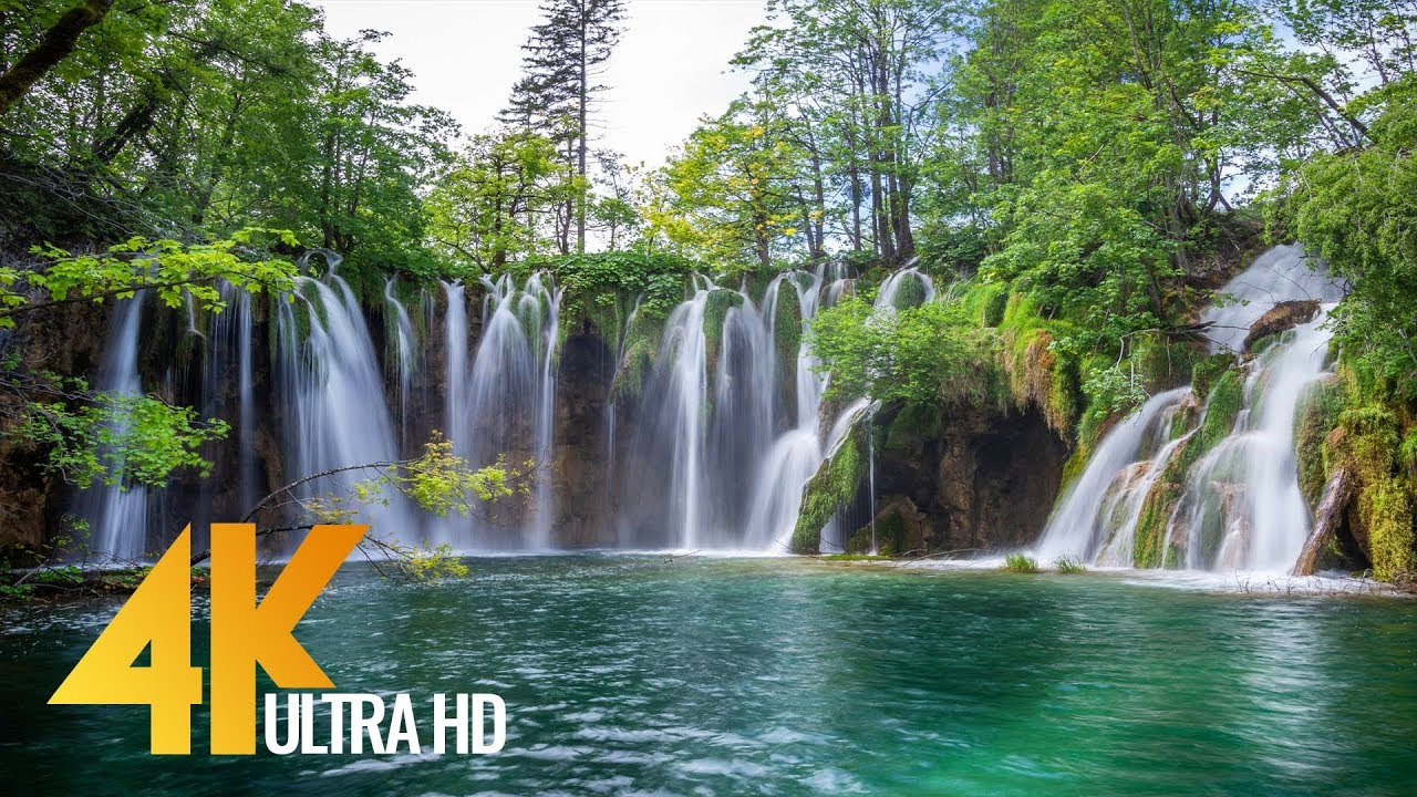 4k plitvice lakes crystal waters of croatian lakes ultra hd relaxation video youtube - Plitvice lakes hd ...