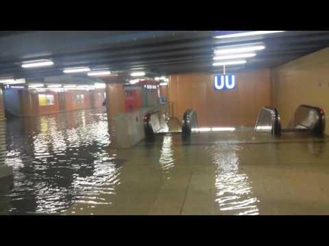 Frankfurt Südbahnhof nach einem Gewitter am 14.06.2016 um 17.16 Uhr