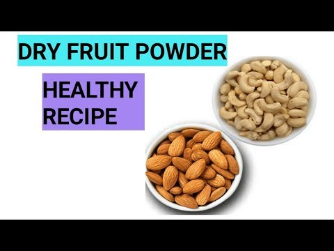Dry fruit powder || kaju badaam || healthy recipe || mom and baby channel