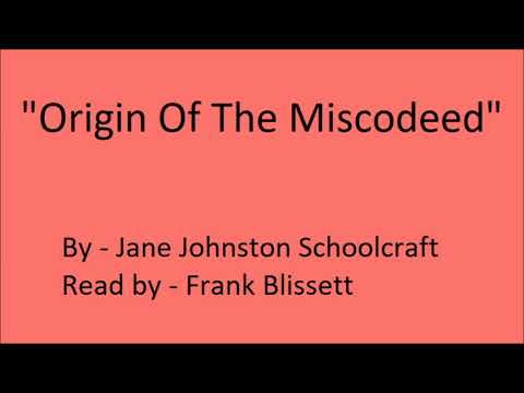 """Origin Of The Miscodeed"" by Jane Johnston Schoolcraft"