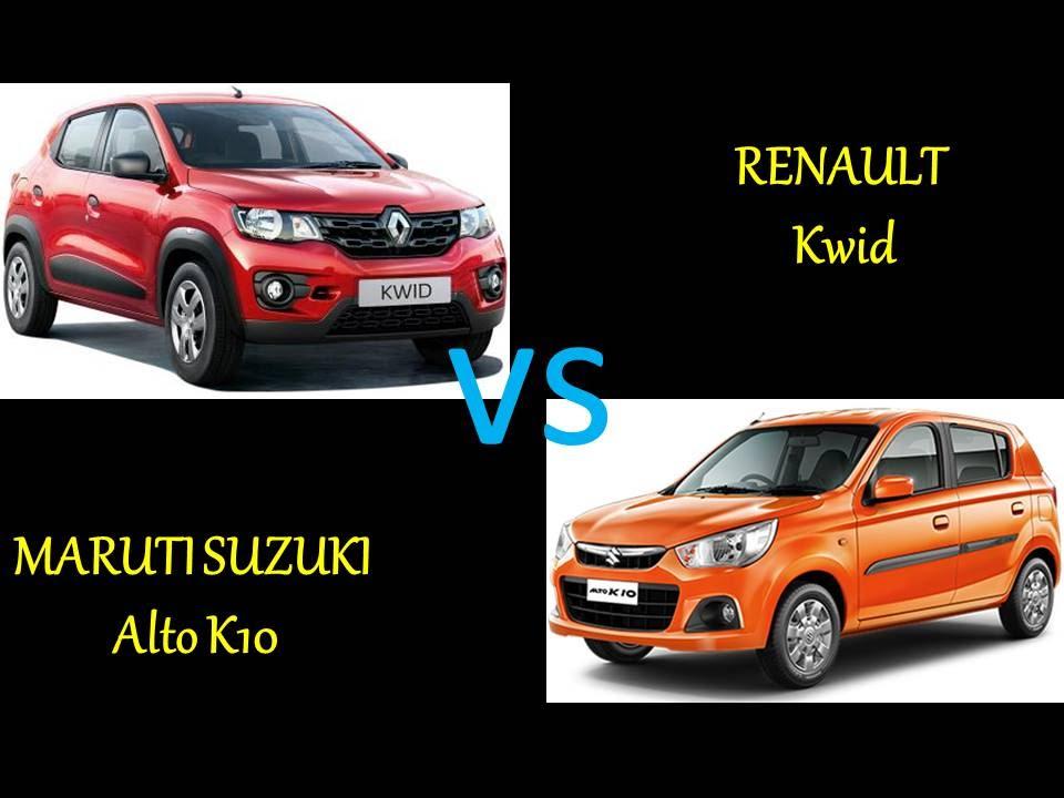 Renault Kwid Vs Maruti Suzuki Alto K10 Comparison Review