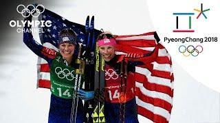 Jessica Diggins & Kikkan Randall Cross-Country Skiing Highlight | PyeongChang 2018
