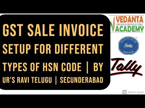 GST Sale Invoice Setup for Different Types of HSN code - YouTube