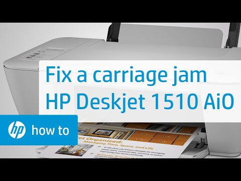 Fixing a Carriage Jam - HP Deskjet 1510 All-in-One Printer