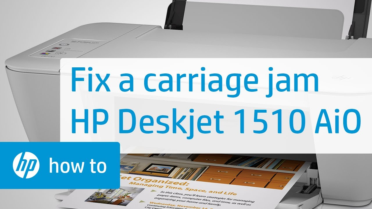 fixing a carriage jam hp deskjet 1510 all in one printer hp rh youtube com