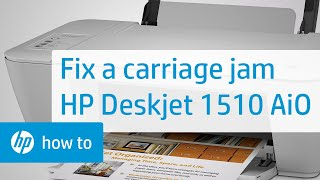 Fixing a Carriage Jam - HP Deskjet 1510 All-in-One Printer(Learn how to fix your HP printer when the ink carriage jams and the Attention Light on the printer's control panel blinks. The steps shown also apply to these ..., 2013-10-10T17:26:21.000Z)