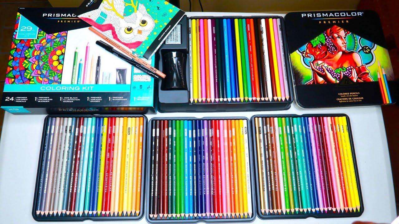 Unboxing Prismacolor Premier Colored Pencils 72 pc set and ...