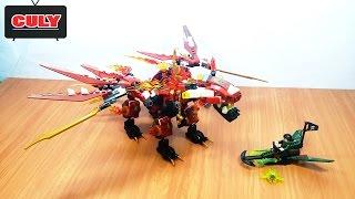Lego NinjaGo rồng lửa kiếm long khổng lồ đồ chơi trẻ em lắp ráp fire dragon thunders word birck toy