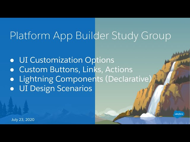 Salesforce Platform App Builder Study Group:  User Interface