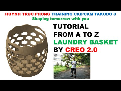 MODELING LAUNDRY BASKET FROM A TO Z BY CREO 2 0
