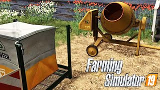 #39 - MOD PICCOLA BETONIERA PER CREARE SEMI -  FARMING SIMULATOR 19 ITA RUSTIC ACRES