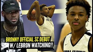 bronny-james-official-sierra-canyon-debut-w-lebron-watching-bronny-ziaire-go-off