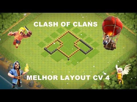 clash of clans melhor layout cv 4 layout de guerra - Layout Cv 4 Guerra