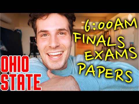 FINALS WEEK AT OHIO STATE UNIVERSITY!