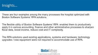 Rpa: 4 revenue cycle & financial management solutions for hospitals - boston software systems rpa