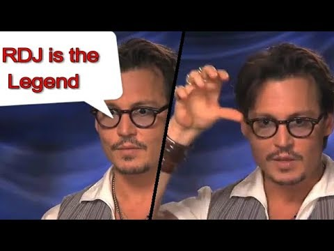 Johnny depp says that |Robert downey jr. is amazing actor|