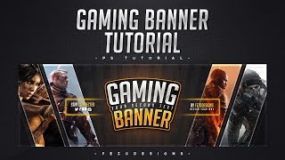 Making YouTube Banner with Fezo EP.10 - Pro Gaming Banner [Template Included]