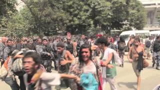 Brazilian riot police storm indigenous people near Rio