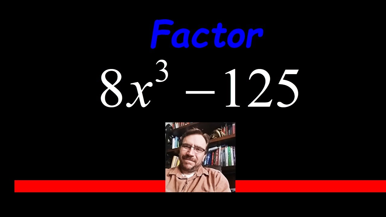 Factor The Difference Of Cubes 8x^3  125