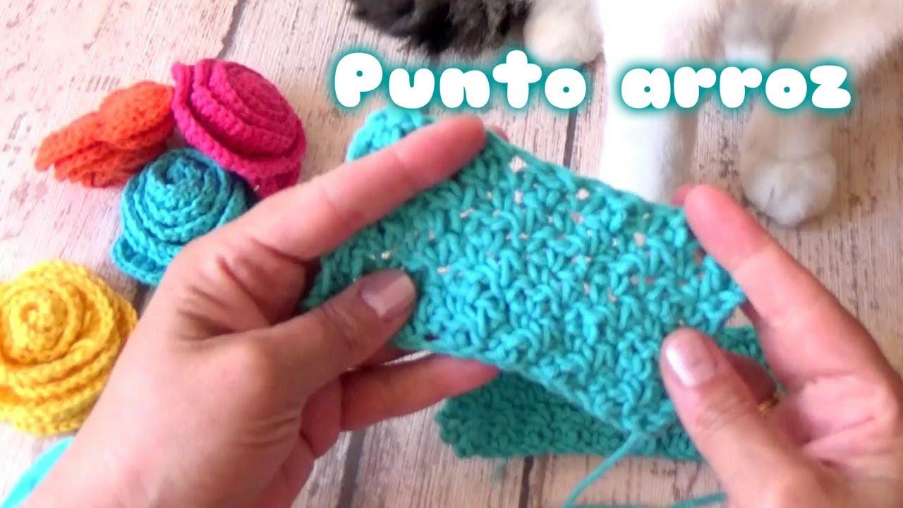 Como hacer el punto arroz a crochet point de riz a - Como hacer punto de lana paso a paso ...