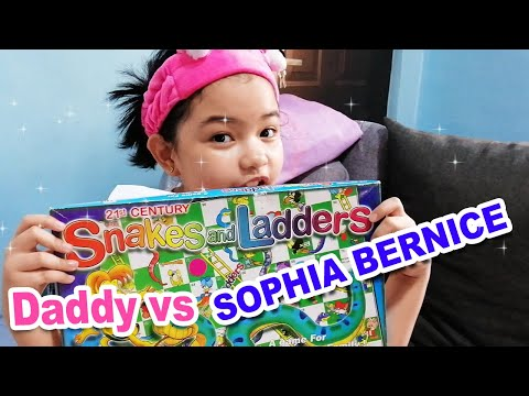 Snakes And Ladders Board Game - Daddy Vs Sophia Bernice