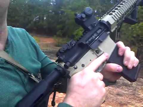 Clearing a double feed ar-14 m4 with magpul bad lever