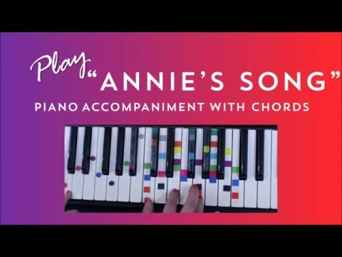 How to Play Sing Annie's Song - John Denver | Easy Piano Chord Lesson | IVOREEZ