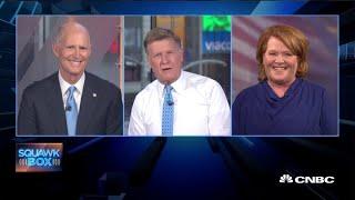 Heidi Heitkamp and Rick Scott debate Elizabeth Warren's wealth tax