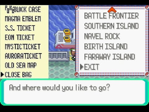 Pokemon Emerald All Event Island Ticket Enabler