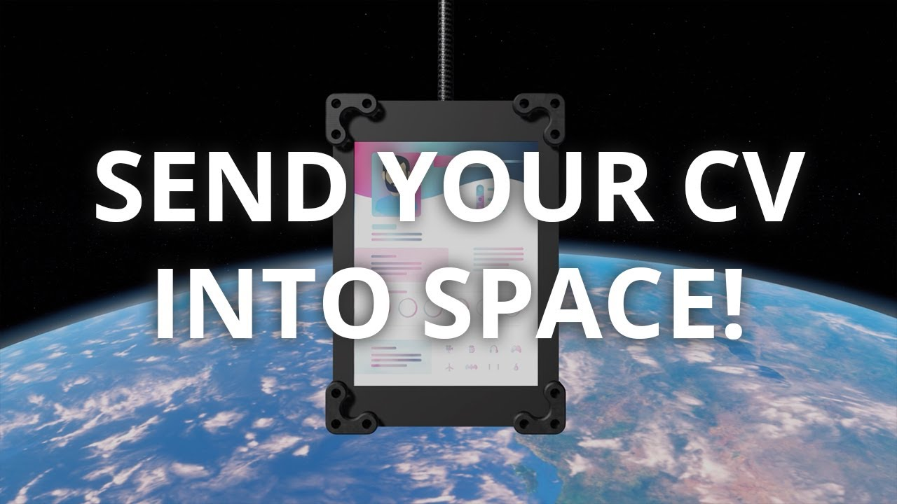 Launch your CV into space with Zoek and Sent Into Space