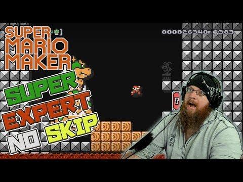 """JUST CALL ME """"SEXPERT"""" - Super Mario Maker - Super Expert No Skip Challenge"""