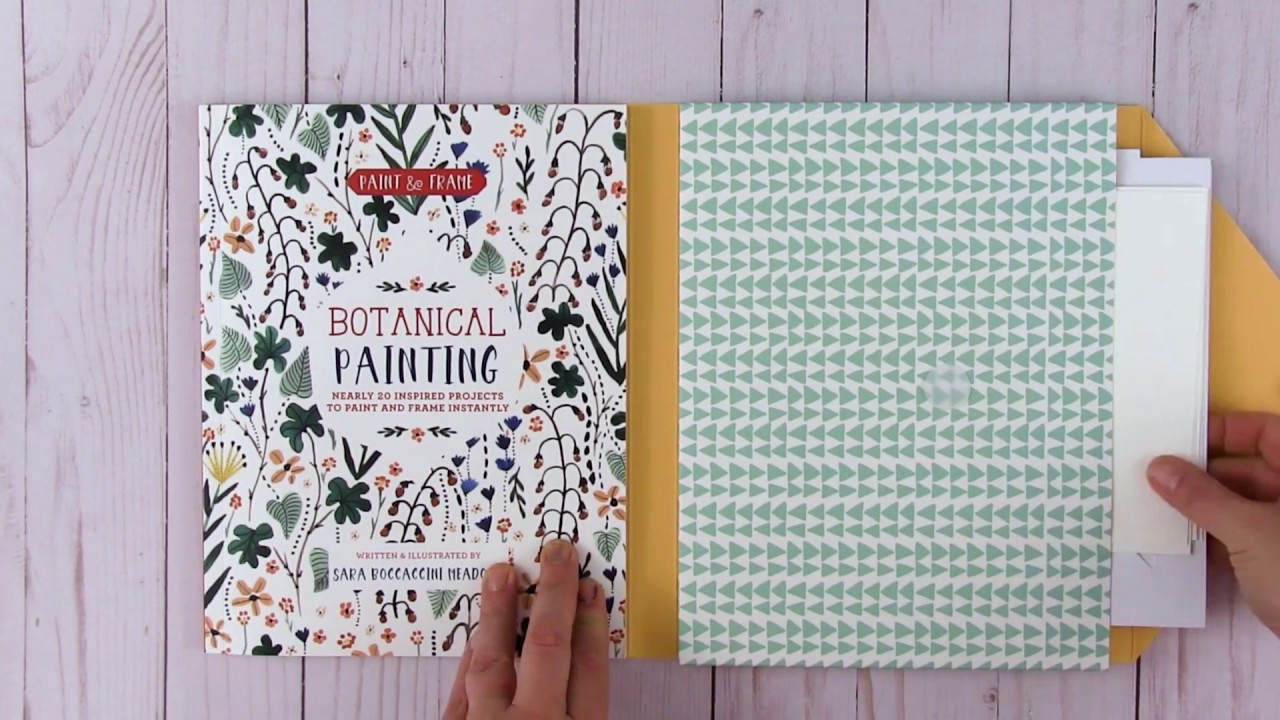 Paint And Frame Your Own Botanical Painting Youtube