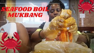 SEAFOOD BOIL MUKBANG | JUICY CRAB | SURVIVAL OF THE FITTEST | KING CRAB vs NEAA