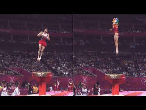McKayla Maroney vault compared to Kohei Uchimura