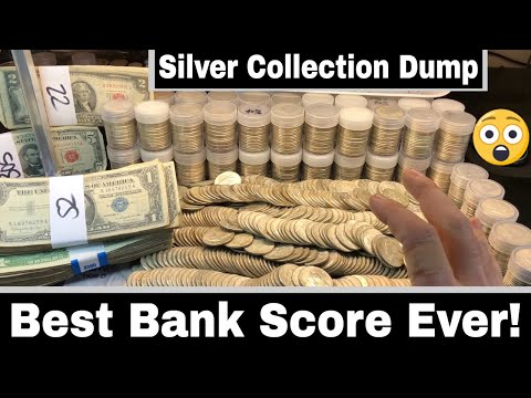 EPIC Silver Coins Found At Bank - Silver Coin Collection Dump For Face Value!