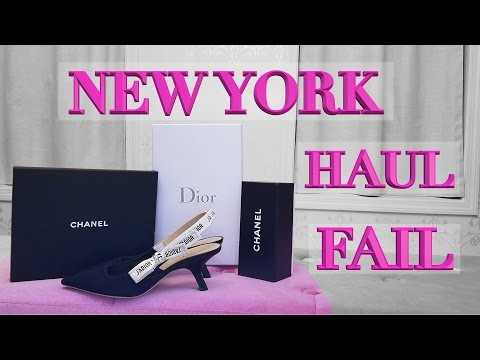 New York Lux Shopping Haul FAIL – Dior shoes, Chanel choker & Sunglasses