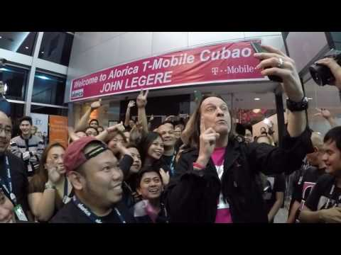 This is How You Welcome a Magenta Wearing Wireless CEO Rockstar!