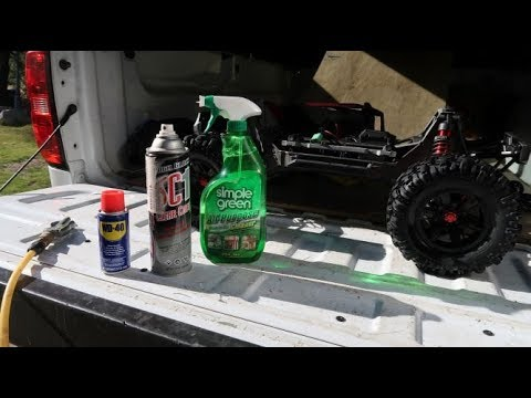 HOw I clean MY $1,000.00 TRAXXAS XMAXX and all my RC bashers